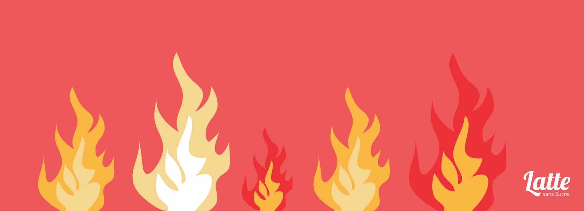 panique-feu-flammes-bureau DIY : oublié de mettre du déo au bureau